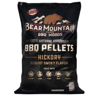 Bear Mountain Hickory Flavored BBQ Wood Pellets