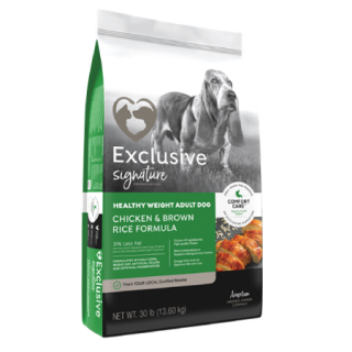 Exclusive Signature Healthy Weight Adult Dog Chicken & Brown Rice Formula