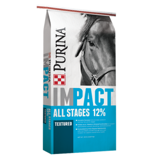 Purina Impact 12% All Stages Pelleted Horse Feed